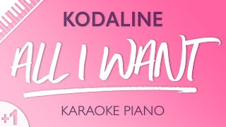 Video All I Want (HIGHER Piano Karaoke) Kodaline MP3, 3GP, MP4, WEBM, AVI, FLV Juli 2018