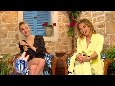 Mamma Mia! 2 Exclusive: Amanda Seyfried, Lily James & Dominic Cooper | Studio 10