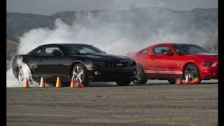 When we first pitted the Camaro SS against the Mustang GT, Ford fans complained it was an unfair race given the horsepower ...