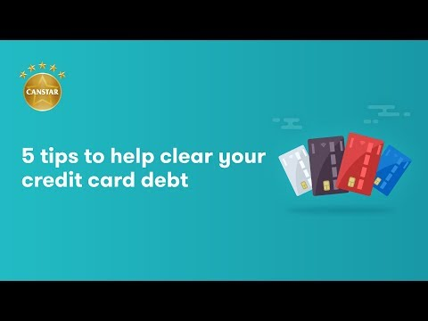 5 tips to help clear your credit card debt