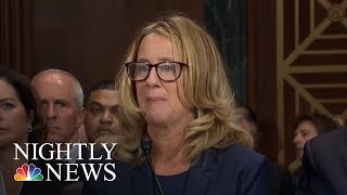 Christine Blasey Ford And Brett Kavanaugh Testify In Front Of Senate Committee | NBC Nightly News