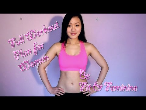 Full Workout Plan for Women to Lose Weight & Tone Up (4 weeks to a Fit & Feminine Figure)