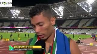Wayde Van Niekerk Cries Due to Lack of Respect After Winning t...