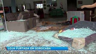 Bandidos deixam loja destruída após furto em Sorocaba