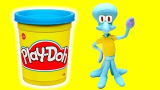 Video Squidward Tentacles Stop motion Play Doh compilation funny video for kids MP3, 3GP, MP4, WEBM, AVI, FLV Desember 2017