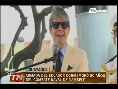 Armada del Ecuador conmemoró 80 años del combate naval de Jambelí