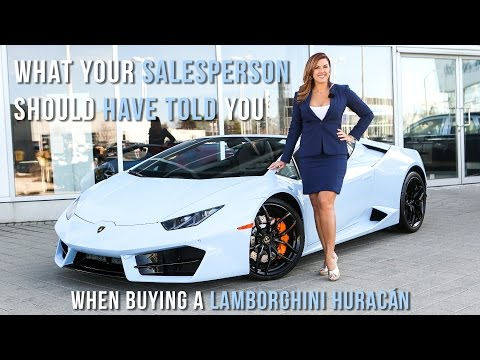 What your Lamborghini Salesperson should have told you when buying a Huracán!