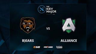 B)ears vs Alliance, Game 1, The Kiev Major EU Main Qualifiers