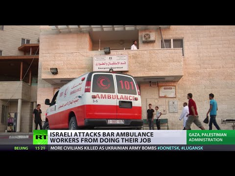 RT - The IDF operation enters its third week & the number of Palestinians killed has risen to 633. Gaza paramedics are working in extremely difficult conditions, as Israeli airstrikes and shelling...