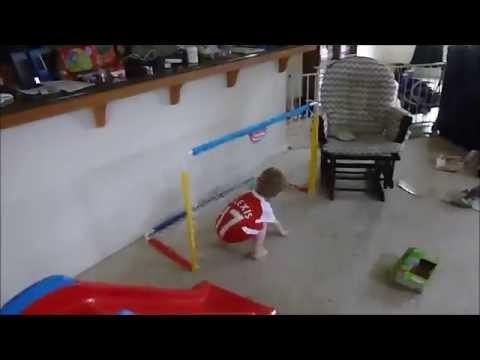 2015 08 05 Little Tikes Easy Score Soccer Set - 2nd birthday reaction