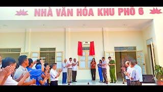 Gắn biển công trình chào mừng Đại hội Đại biểu Đảng bộ phường Trưng Vương