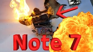 Note 7 Battery Explosion!! CAUGHT LIVE ON CAMERA!!
