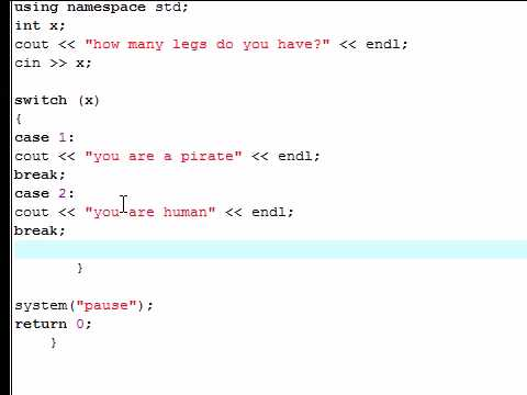 C++   Tutorial – 21 – Switch Statement