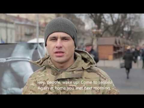 Воїни, співаки та священик продекламували вірш на підтримку українських полонених