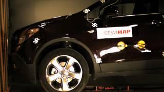 Crash test delantero Opel Mokka en CESVIMAP