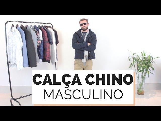 COMO USAR CALÇA CHINO DE SARJA   MARCULINA - Closet da Mari