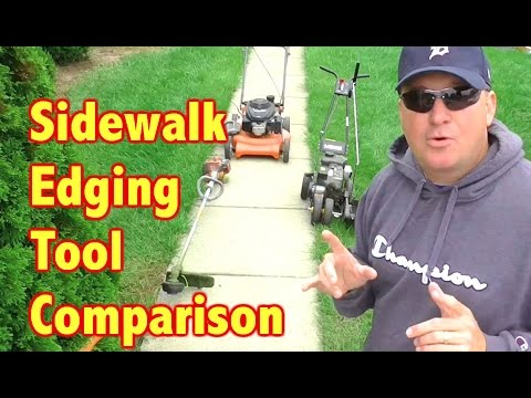 Sidewalk Edging Comparison - Edger vs Line Trimmer (видео)