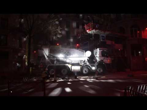 Cement Truck Turned Into A Massive Disco Ball