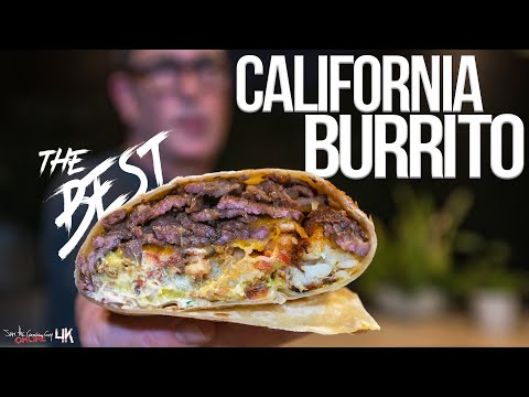 The Best California Burrito | SAM THE COOKING GUY 4K
