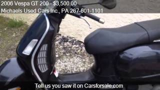 7. 2006 Vespa GT 200 - for sale in East Lansdowne, PA 19050 at
