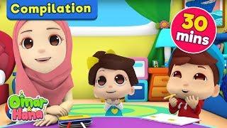 Video Compilation 30 MINUTES Alif Ba Ta | Nasheed for Kids | Omar & Hana MP3, 3GP, MP4, WEBM, AVI, FLV Juni 2019