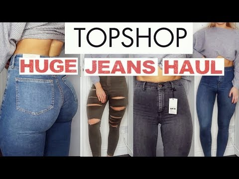 THE MOST FLATTERING TOPSHOP JEANS | HUGE TRY ON HAUL