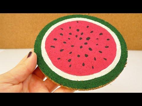 Sommerlicher Wassermelonen Untersetzer | Coole Idee für den Sommer