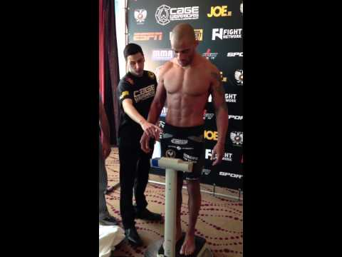 Cage Warriors 55 Weight in Crossfight Jean N'Doye and Norma