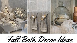 DECORATE WITH ME | SMALL BATHROOM FALL DECOR IDEAS +DOLLAR TREE  DIY
