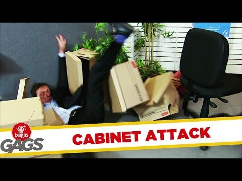 Filing Cabinet Drawer Attack! - Youtube