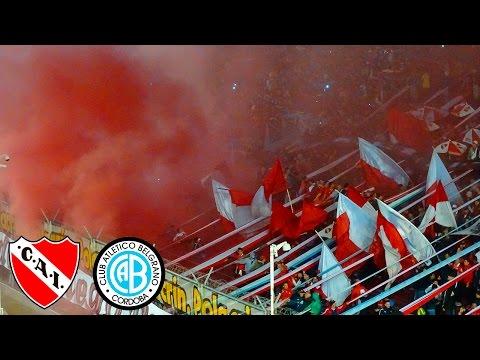 Independiente 4 - Belgrano 1   La hinchada! - La Barra del Rojo - Independiente