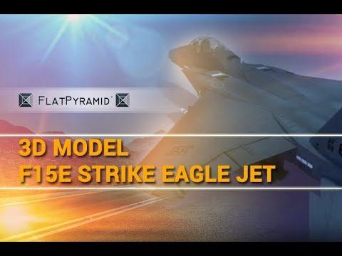 F15E Strike Eagle Jet 3D Model...