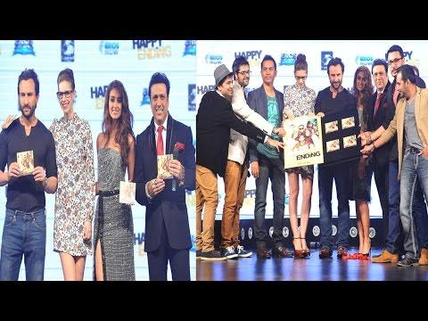 Music Launch Of Movie Happy Ending With Saif Ali Khan, Kalki, Ileana, and Govinda