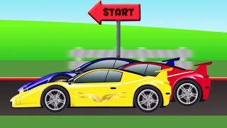 Video mobil sport | ras | mobil kartun | Race  | Cartoon Car Racing For Toddler | Sports Car For Children MP3, 3GP, MP4, WEBM, AVI, FLV Mei 2017