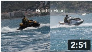 1. Sea Doo GTI 130 and RXP 215 performance test