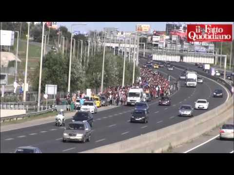 la lunga marcia dei migranti siriani verso l'austria!