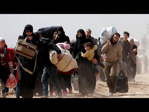 Mαζική έξδοδος αμάχων από τη Συρία