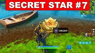 SECRET BATTLE STAR WEEK 7 SEASON 6 LOCATION! - Fortnite Battle Royale (Hunting Party Challenges)