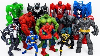 Power Rangers & Avengers Toys Pretend Play | Hulk & Spider Man Super Hero Transform vs King Kong