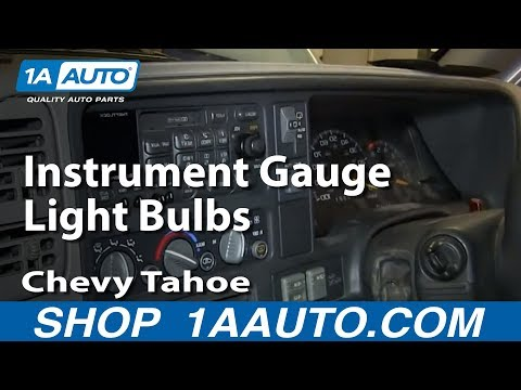 How To Service Replace Instrument Gauge Light Bulbs 1996-99 Chevy Tahoe K1500 Pickup