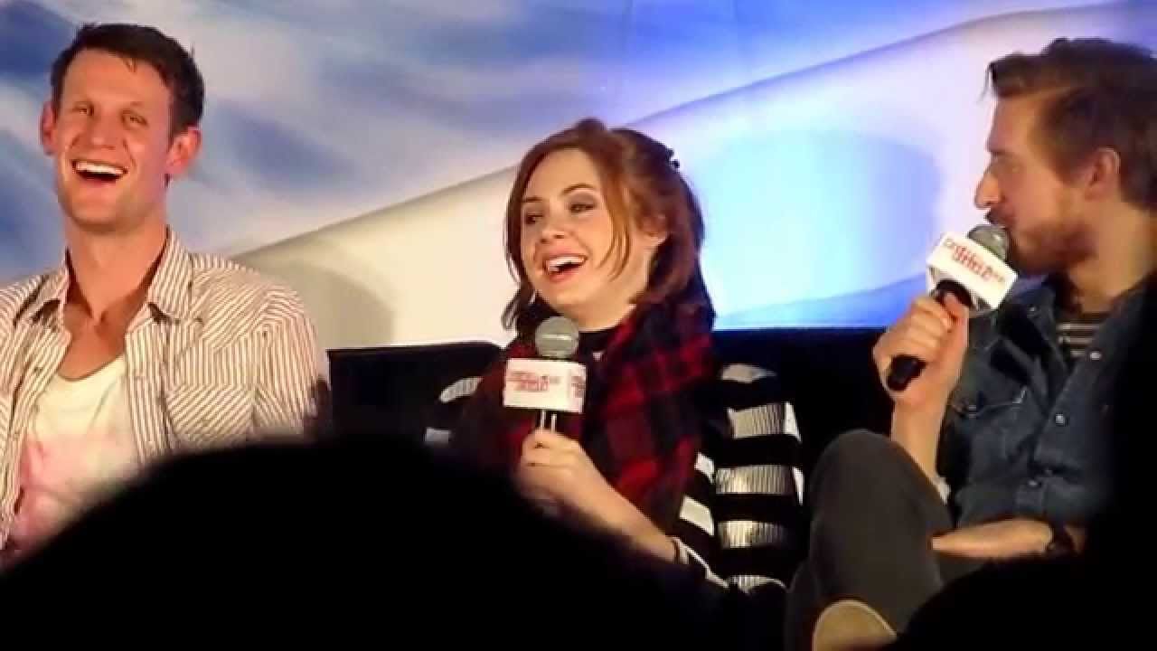 Matt Smith, Karen Gillan and Arthur Darvill at Walker Stalker Con
