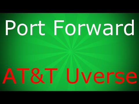 port forward - This is a short tutorial explaining the process of port forwarding an AT&T Uverse/2Wire router. I will probably make a video explaining how to make a Minecra...