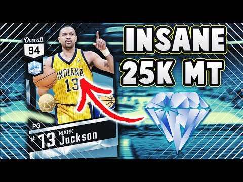 INSANE DIAMOND MARK JACKSON IS ONLY 25K MT IN NBA 2K17 MYTEAM...... (видео)