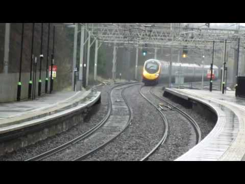 Berkhamsted Virgin Pendolino in the Rain
