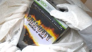 CALL OF DUTY WORLD AT WAR COLLECTOR'S EDITION UNBOXING! Zombies & Ray Gun Easter Egg Gameplay