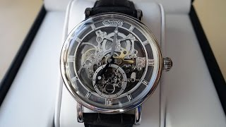 "*Courtesy of CELINE JEWEL* Review of this Ingersoll ""Nez Perce"" watch featuring a mesmerizing skeleton dial with small seconds. Implements Caliber 414 in a stainless steel case on grey leather band.Like on Facebook: https://www.facebook.com/PerthWAtchYouTube/#ingersoll #automaticwatchModel IN1918SL (feat. Caliber 414)Provided by: CELINE JEWEL, Watertown - https://www.facebook.com/celinejeweloz/Ingersoll Austria listing - http://www.ingersoll.at/en/ingersoll-in1918sl-nez-perc.htmlAmazon listing - https://www.amazon.com/Ingersoll-IN1918RSL-Analog-Display-Automatic/dp/B00ZUZVENC===========Perth WAtch - Sharing my passion for horology and watches. Enjoy the videos on watch reviews, general thoughts & discussions, side-by-side comparisons, horology topics, and more!Watch Reviews Playlist: https://www.youtube.com/watch?v=h8DySE9bYGU&list=PL1qbhxREC4LQGhBi-ErvsxVz3Kc5P4FOxWatch Topics & Discussions: https://www.youtube.com/watch?v=u3IWov7lrrk&list=PL1qbhxREC4LT9JMopfMG2-wu6rFhsJCIuSubscribe: https://www.youtube.com/channel/UCjBOEG8LoZOV0qOO7TdlHlA?sub_confirmation=1===========Music:Prelude in C (BWV 846) Kevin MacLeod (incompetech.com)Licensed under Creative Commons: By Attribution 3.0 Licensehttp://creativecommons.org/licenses/by/3.0/"