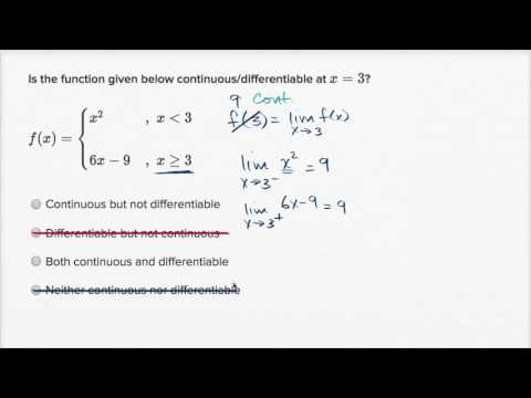 Differentiability At A Point Algebraic Function Is