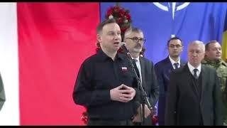 Spotkanie świąteczne  Dudy z żołnierzami Polskiego Kontyngentu Wojskowego w Rumunii.