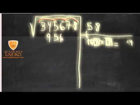 Academia Estepona Usero Algoritmo de la raíz cuadrada UD02 Matemáticas 1º ESO