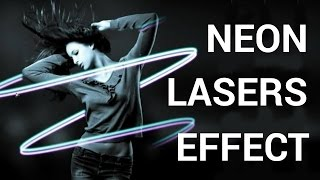 In this tutorial you will learn how to make a Neon Lasers Effect in Adobe Photoshop.Don't forget to check out our site http://howtech.tv/ for more free how-to videos!http://youtube.com/ithowtovids - our feedhttp://www.facebook.com/howtechtv - join us on facebookhttps://plus.google.com/103440382717658277879 - our group in Google+So first create a new layer, and go to the toolbar and select the brush tool or press B.Now go to the brush preset picker, keep the size of the brush between 12 to 18, in this case I will keep it 14 and keep the hardness between 40 to 50%,Next, go to the toolbar and select the pen tool.Now create a path for the neon lasers, you can use your imagination to make anything you like, but in this case I will keep it simple therefore I will create a neon twirl.Now bring your cursor on top of the path you made and right click.After right clicking, select stroke path in the menu.In the properties, open the tool drop down menu, select brush. Then check on stimulate pressure and press ok.Then, right click on layer one, select blending options, then check and select outer glow.Now, click on the color box and select any color you like, in this case I will choose a lighter shade of blue.Now, make the size between 8 to 10 pixels and spread between 1 to 3%.Now click on the drop down menu of contour under quality and select half round and press ok.Now select the eraser tool or E and erase out alternate lines so it looks like twirl going around the subject.Now select the pen tool from the tool bar.Bring the cursor on top of the path and right click.After right clicking, select delete path from the menu.Now make a copy layer of layer 1 by dragging it down to the copy option or by pressing Ctrl or Cmnd J on a Windows or Mac respectively.By copying the layer, you will also copy the layers attributes, so that you don't have to repeat all the steps again to make another neon laser.Now double click on the copy layer to open its blending options.Check and select outer glow.Click on the color box and choose any color you like, as for my second laser I will choose purple.Now since the both lasers are overlapping, select the move tool or press V.Reposition your second laser, so it looks more artistic, and there you go, your image is complete.